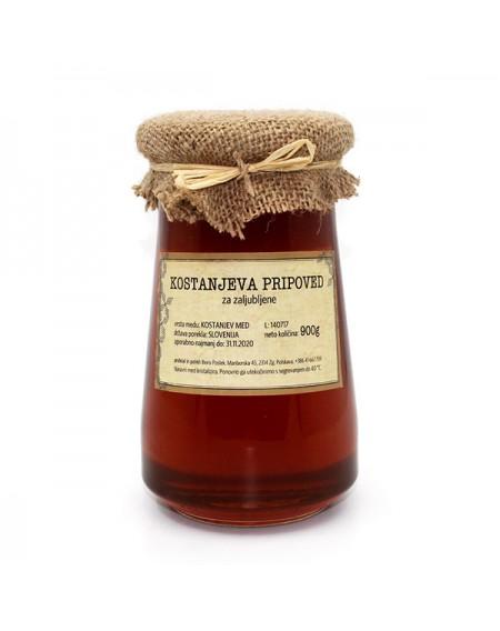 Kostanjev med 900 g (Čebelarstvo Poslek)